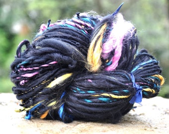 """Wool spun at the spinning wheel """"in the heart of the night"""""""