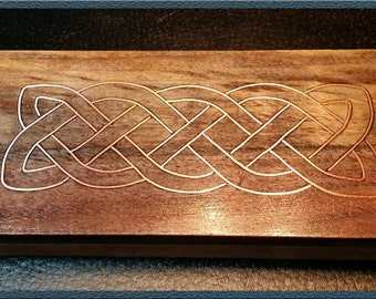 Irish Celtic Knot Copper Wire Inlay Paperweight Handcrafted