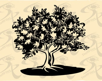 0303_FIG Vector_Fig TREE,SVG,DXF,ai, png, eps, jpg,realistic,sketch,Printable art,Art print home,Download files,Digital, graphical