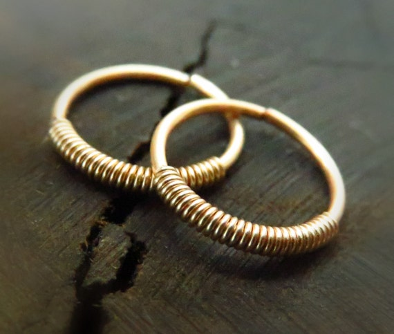 cartilage earring hoop gold cartilage ring small gold