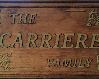 Personalized Wood Carved Name Plaque