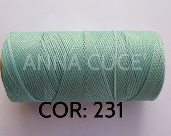 COR: 231 Choose from 10 - 20m waxed thread LINHASITA thick, wire 1mm for macramé, materials.