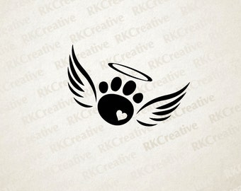 Pet loss paw print decal, rainbow bridge, pet loss gift, pet memorial, memorial gift, pet decal, vinyl decal, car window decal