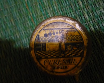 French CUREMAIL  Rare small Tin can