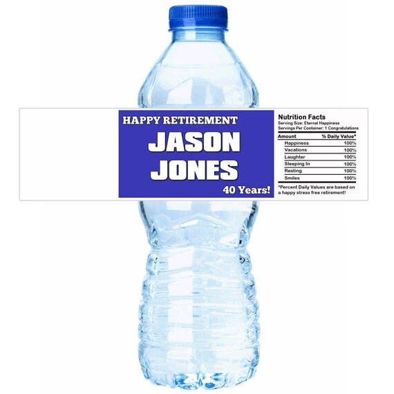 Personalized Happy Retirement Water Bottle By
