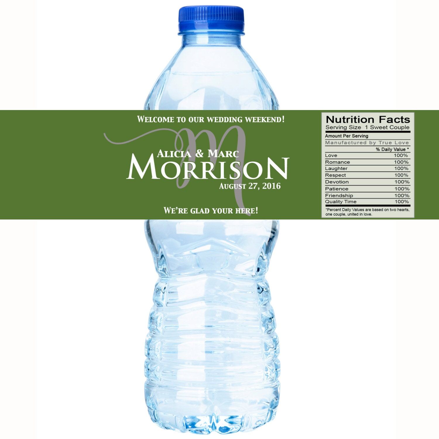 Wedding Water Bottle Labels 30 Monogram Water Bottle