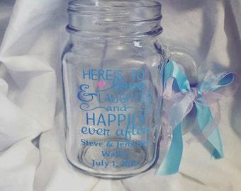 Mason Jar Wedding Favors \\ Mason Jar Bridal Party Gifts \\ Mason Jar wedding gifts