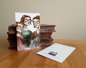 The Brontë Sisters Postcard/Print