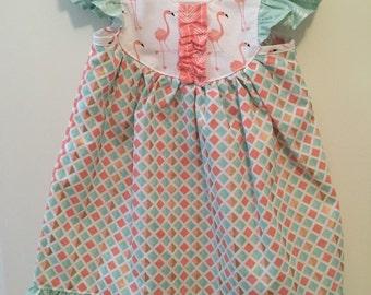 Flamingo Dress- 2T