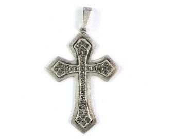 Antique Religious cross pendant Medal, vintage catholic Saint medal, crucifix jewelry charm