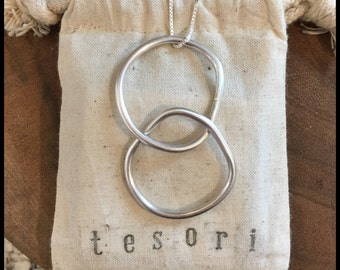 sterling silver ring pendant with sterling silver chain