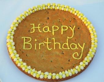 Birthday Cookie Cake, Custom Cookies, Personalized cookies, Chocolate Cookies, Giant Cookie Cake, Anniversary Cookies, Themed Cookies