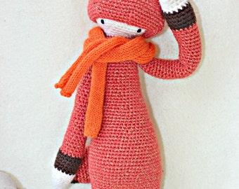 Fox plush, crochet baby plush toy, crochet fox toy, amigurumi animal,  eco friendly doll, stuffed fox, crochet lalylala fox, FIBI the fox