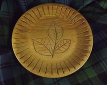 SALE !!        Vintage Wooden Scottish Shortbread Mould with Ash Leaf