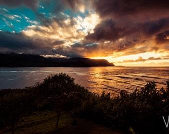 Hawaiian sunset photograph