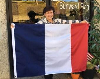 3' x 5' France National Flag, Pray for France, VIVE LA FRANCE, 11/13/2015, Liberté, Egalité, & Fraternité, Custom Sizes Available