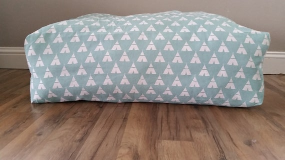 Etsy Large Floor Pillows : Floor Pillow Large Floor Pillow Pillow Pouf Blue Aqua Tee