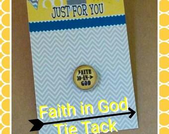 Faith in God Award tie tack for boys, LDS gift for boys