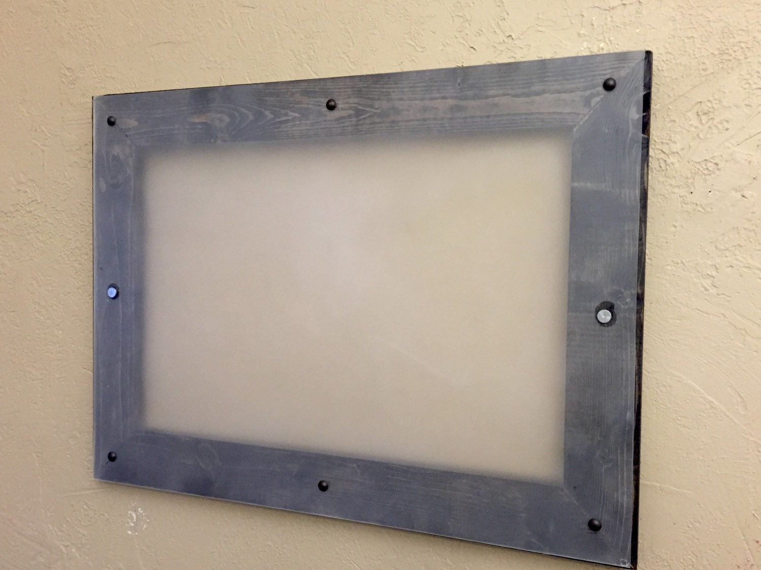Dry erase board framed 18x24 frosted plexi glass for 18x24 window
