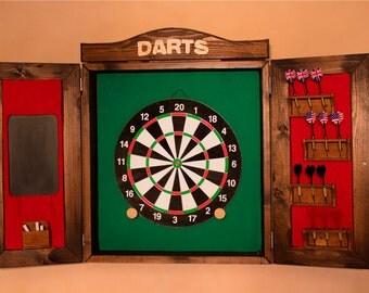 Wall cabinet with dartboard-dartboard-dardos-jeu de fléchettes