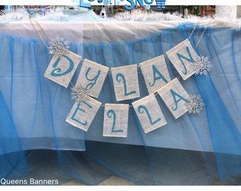 Custom Name Banner, Name Sign, Baby Name Banner, Burlap Banner, Bunting, Personalized Name Burlap banners, Custom Name Burlap Banner