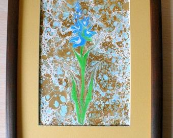 Ebru Art, Marbled Paper, Ebru Wall Art, Original Marbled Art, Original Art Decor, Mother Day Gift, Wall Art, Ebru Painting, Marbled Art
