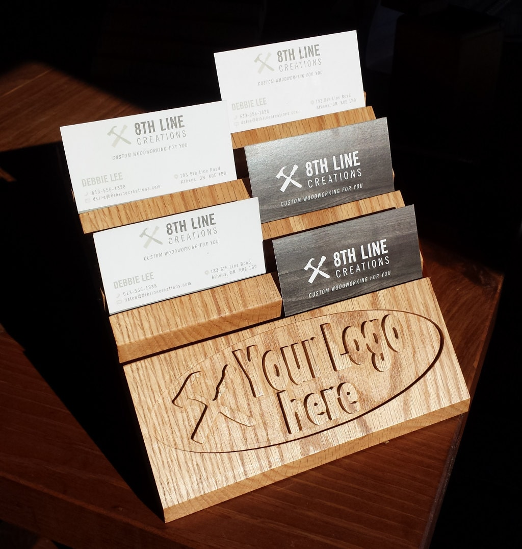 Your Logo on Multiple Business Card Holder by 8thLineCreations