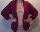 Mohair jacket-purple