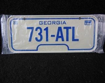 Georgia State Bicycle License Plate - 1982 Bike License Plate -Mini Colorful Metal Signs