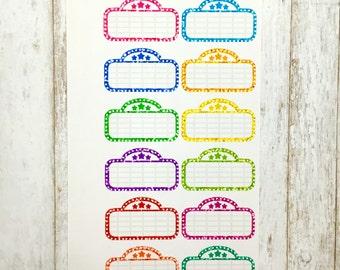 Glitter Movie Marquee Stickers