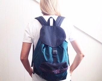 Vintage backpack. 90's grunge backpack. Outdoor backpack. Vintage outdoor gear. Tribal backpack. Hipster backpack.