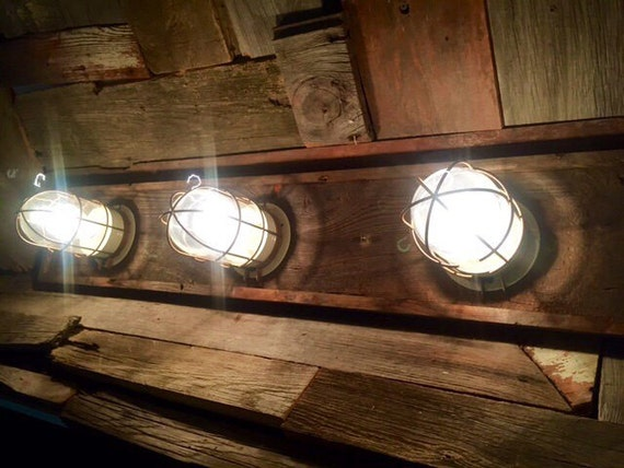 Coastal Bath Vanity Lights : Nautical / Beach house bathroom vanity 3 bulkhead by WoodsEdge3