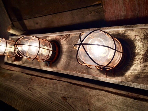 4 Fixture Nautical Vanity Wall Light Bar By WoodsEdge3 On Etsy