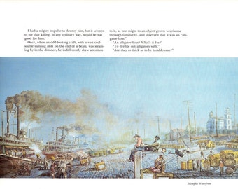 Memphis Waterfront from the book Burny Myrick Timeless River