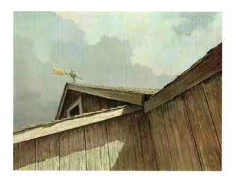 Sloanes Painting was in search of the wood texture and weathering. From Eric Sloanes book I Remember America
