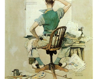 The Artist the cover of the Saturday Evening Post for October 1938 painted by Norman Rockwell