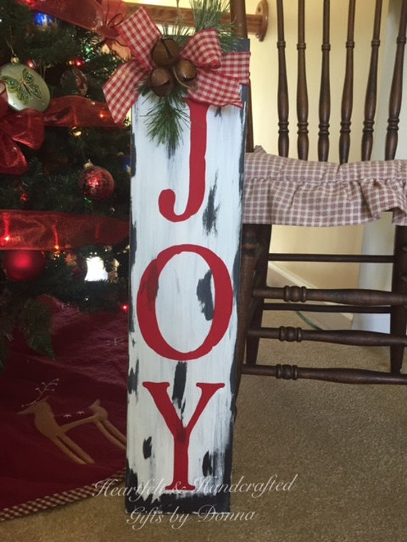 Joy Sign Christmas Sign Holiday Decor By Heartfeltbydonna