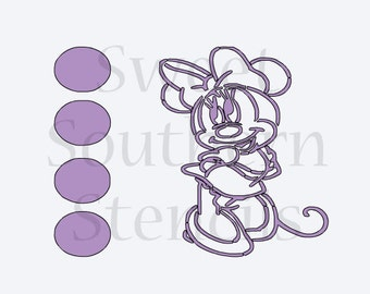 PYO Girl Mouse Cookie Stencil