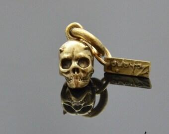 Pendant Horned Skull Bronze