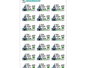 Hub Grass and Chill Stickers - Disney Planner Stickers