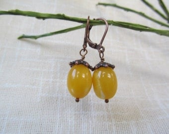 Dangle Baltic Amber Earrings Yellow Yolk Baltic Amber Jewelry