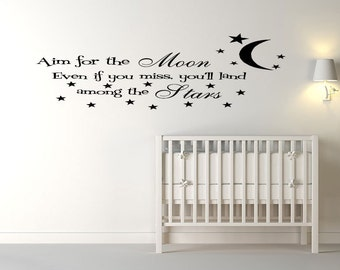 Aim For The Moon Wall Decal