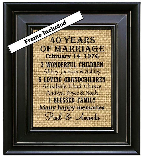 Wedding Gifts For 40 Years : Gift/40th Anniversary Gifts/Ruby Anniversary Gifts/40 years ...