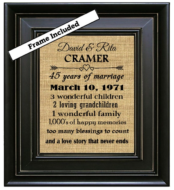 Wedding Gift 45 Years : ... Gifts/45th Wedding Anniversary Gifts/45 years of Marriage/Parents