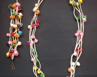 Bracelet and necklace set (COD 001)