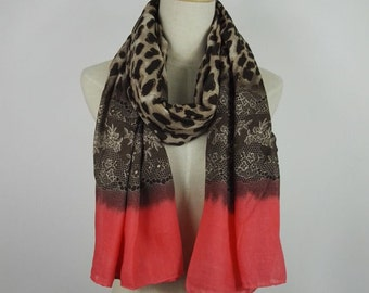 Leopard Scarf Printed Scarf Fall Scarf Leopard Shawl Brown Leopard Scarf Boho Scarf Leopard Print Scarf Unique Women Scarf Gift For Her