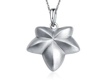 Ivy Leaf Necklace, Sterling Silver (M002)