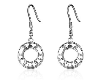 Phi Sigma Sigma Earring - Eternity Sterling Silver (PSS-E001)
