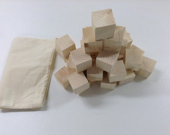 30 wooden DIY craft untreated raw FIR 44 mm