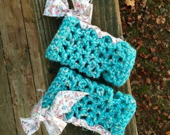 Shabby Chic arm warmers/fingerless gloves